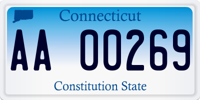 CT license plate AA00269