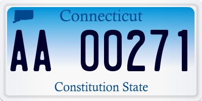 CT license plate AA00271