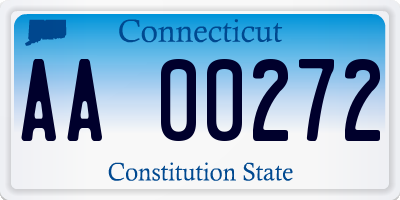 CT license plate AA00272