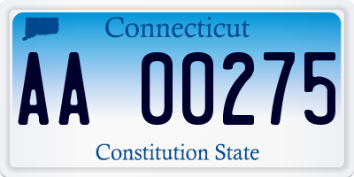 CT license plate AA00275