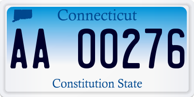 CT license plate AA00276