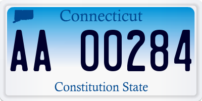 CT license plate AA00284