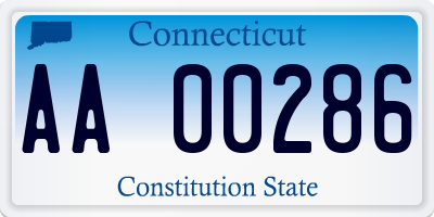 CT license plate AA00286
