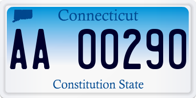 CT license plate AA00290