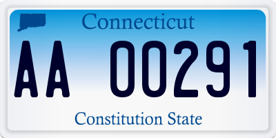 CT license plate AA00291