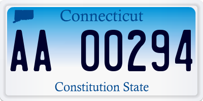 CT license plate AA00294