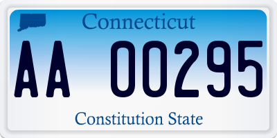 CT license plate AA00295