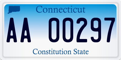 CT license plate AA00297