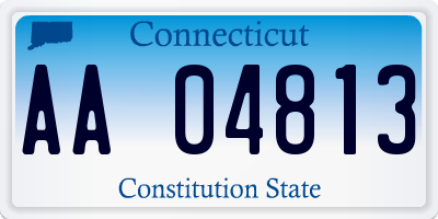 CT license plate AA04813