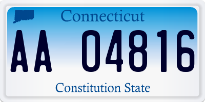 CT license plate AA04816