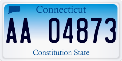 CT license plate AA04873
