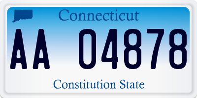 CT license plate AA04878