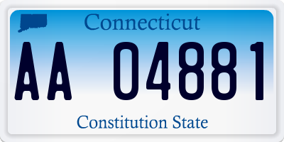 CT license plate AA04881