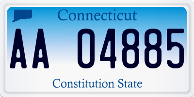 CT license plate AA04885