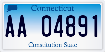 CT license plate AA04891