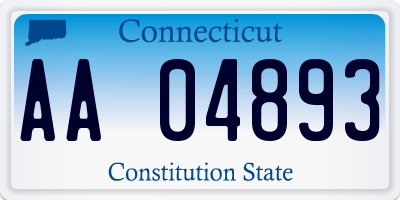 CT license plate AA04893