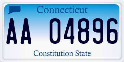 CT license plate AA04896