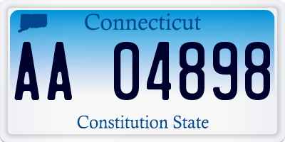 CT license plate AA04898