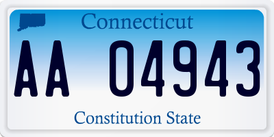 CT license plate AA04943