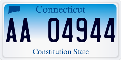 CT license plate AA04944