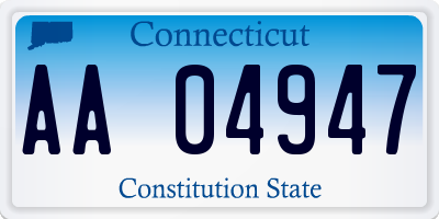 CT license plate AA04947