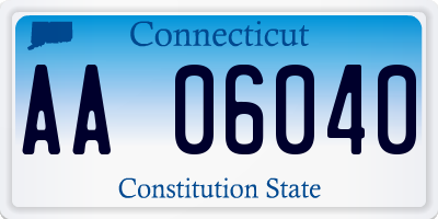 CT license plate AA06040
