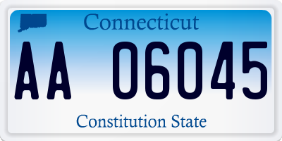 CT license plate AA06045