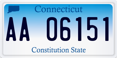 CT license plate AA06151