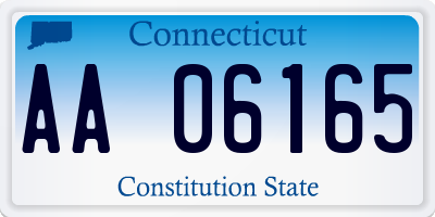 CT license plate AA06165