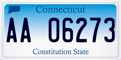 CT license plate AA06273