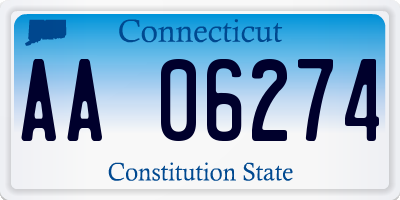 CT license plate AA06274
