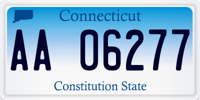 CT license plate AA06277