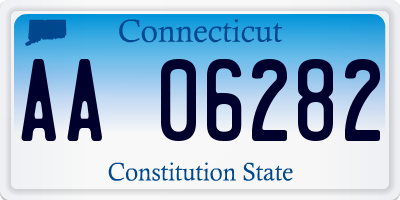 CT license plate AA06282