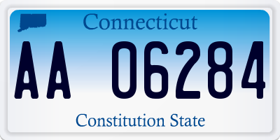 CT license plate AA06284