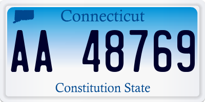 CT license plate AA48769