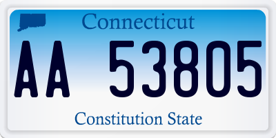 CT license plate AA53805