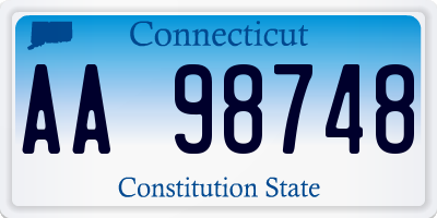 CT license plate AA98748