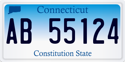 CT license plate AB55124