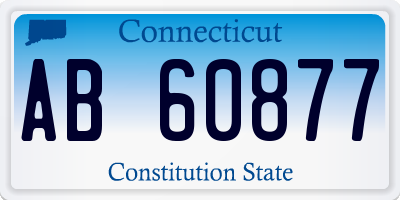 CT license plate AB60877