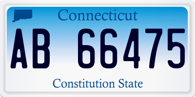 CT license plate AB66475