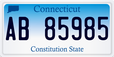 CT license plate AB85985