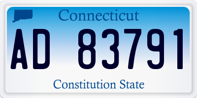 CT license plate AD83791