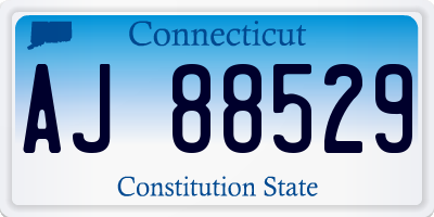 CT license plate AJ88529