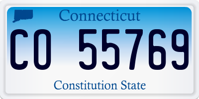 CT license plate CO55769