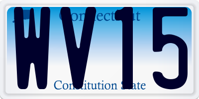CT license plate WV15