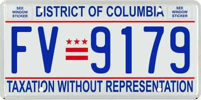 DC license plate FV9179