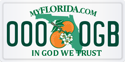 FL license plate 0000GB