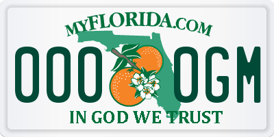 FL license plate 0000GM