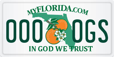 FL license plate 0000GS