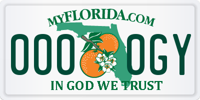 FL license plate 0000GY